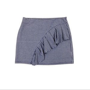 Topshop Gingham Ruffle Front Skirt